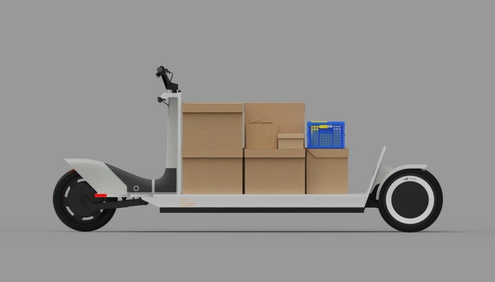 TENKER NYTT: Å transportere noe fra A til B behøver sjelden å involvere en stor lastebil, mener Polestar. Derfor har de utviklet Re:Move. Skisse: Konstantin Grcic