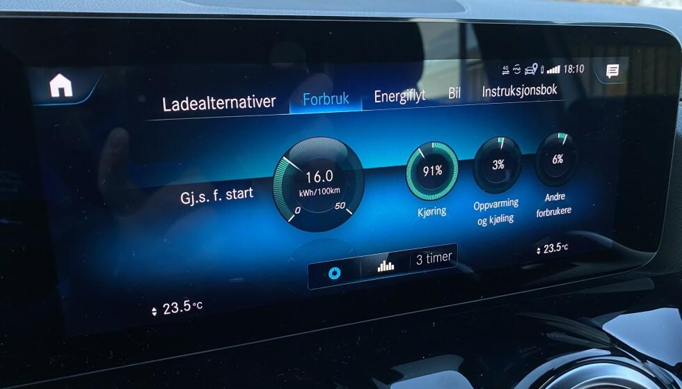 FORBRUKERE: Du får også vite hvor energien er blitt brukt. (Bildet er kun for å vise, og er ikke tatt under selve testen). Foto: Fred Magne Skillebæk