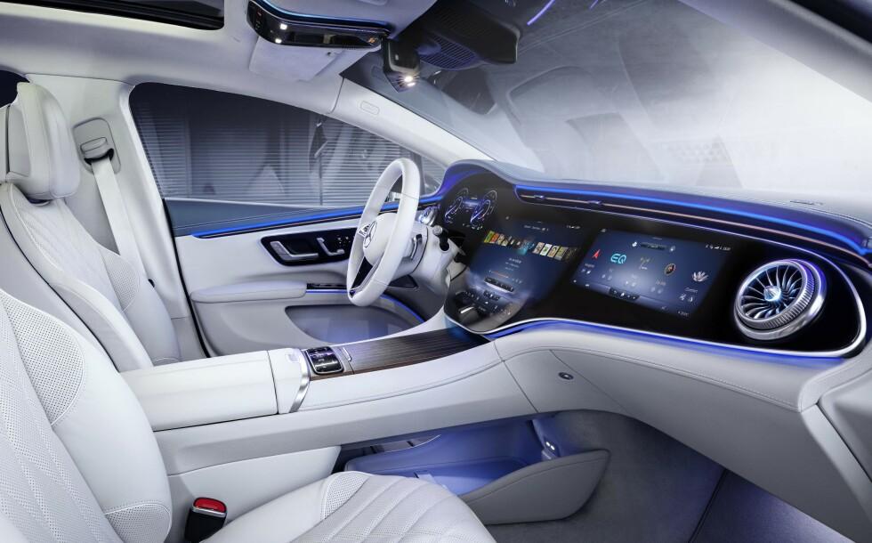 Mercedes-Benz EQS interiørbilder. Foto: Mercedes-Benz
