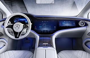 Mercedes' nye flaggskip får 77 tommers skjerm og viruskontroll