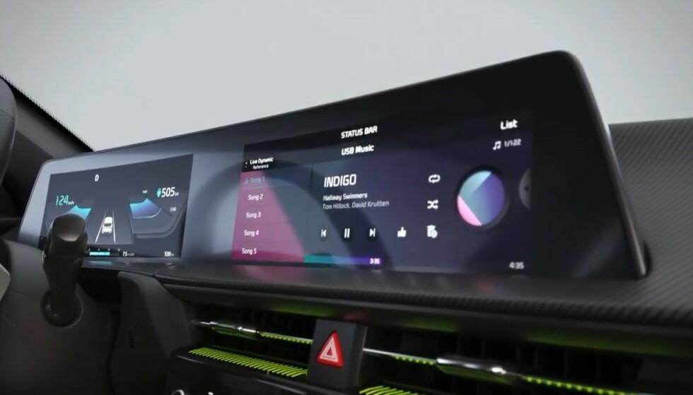 TO SKJERMER: Som Ioniq 5 har også Kia EV6 to 12-tommere ved siden av hverandre i dashbordet. Ill: Kia