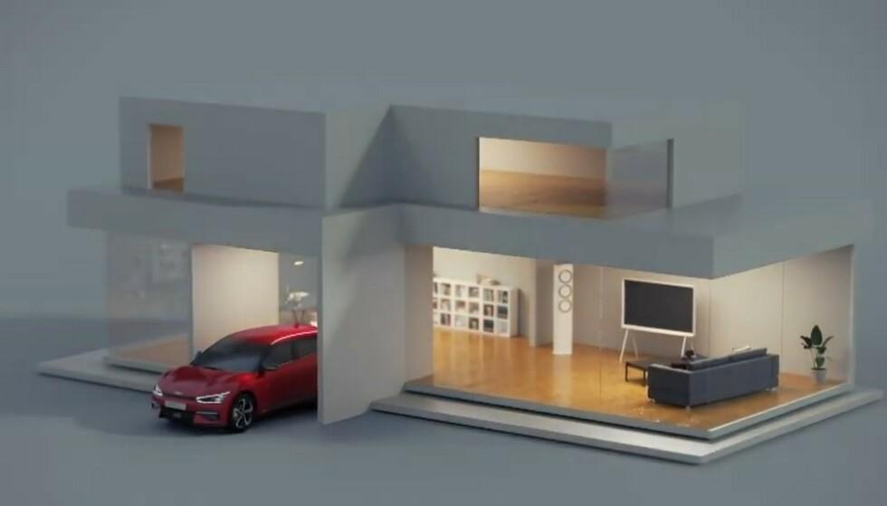 NØDSTRØM: Med makseffekt på 3,6 kW har du nok til å forsyne huset med strøm til en panelovn, lys, TV og annen elektronikk i mange timer. Illustrasjon: Kia