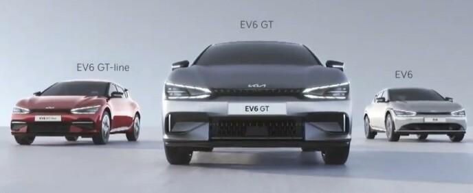 SPORTSBILYTELSER: Toppvarianten EV6 GT får ytelser som matcher mange dedikerte sportsbiler. Illustrasjon: Kia