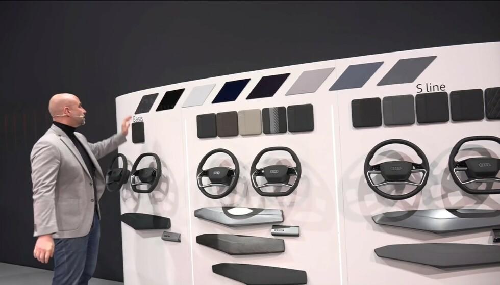 S-LINE: Flere interiør- og utstyrsversjoner å velge blant. Foto: Audi