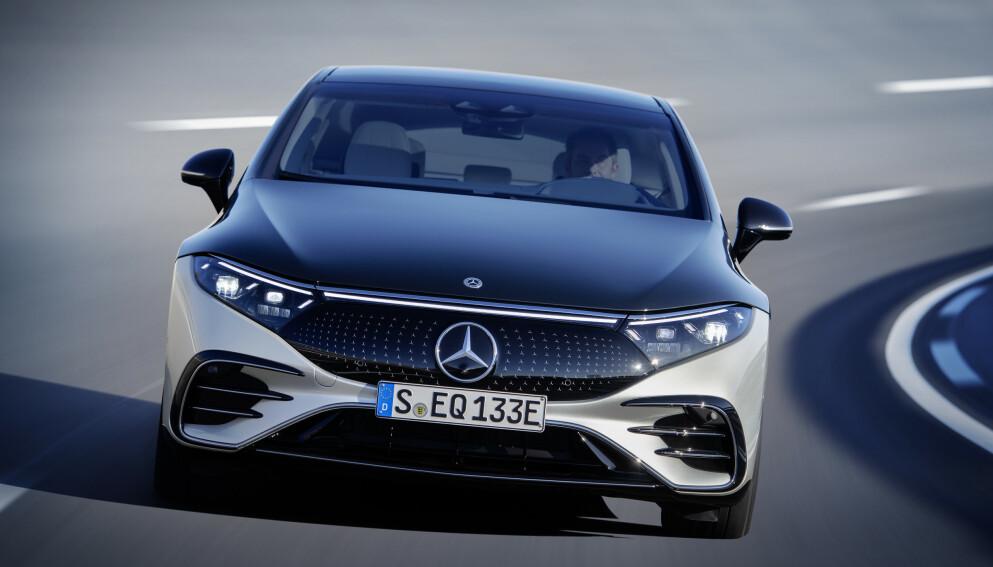 VERDENS LAVESTE: Ingen produksjonsutgaver har en lavere luftmotstand enn Mercedes-Benz EQS. Foto: Daimler