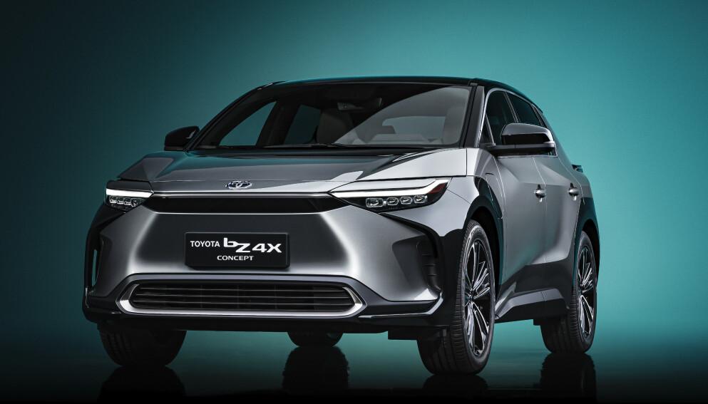 LANSERT: Toyota viste frem elbilen bZ4X på bilmessen i Shanghai tidligere i april. Foto: Toyota