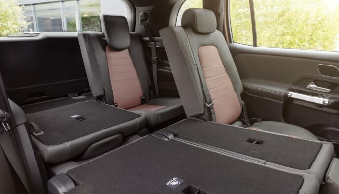 FLEKSIBELT: Bilen kommer med fleksible seteløsninger og plass til inntil sju personer. Foto: Mercedes-Benz