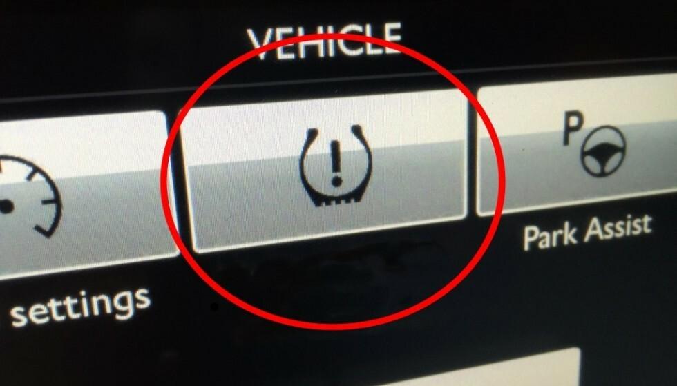 TPMS: Det er et krav i nyere biler at de er utstyrt med dette overvåkingssystemet.