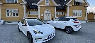 Hyundai Kona ypper seg på Tesla Model 3