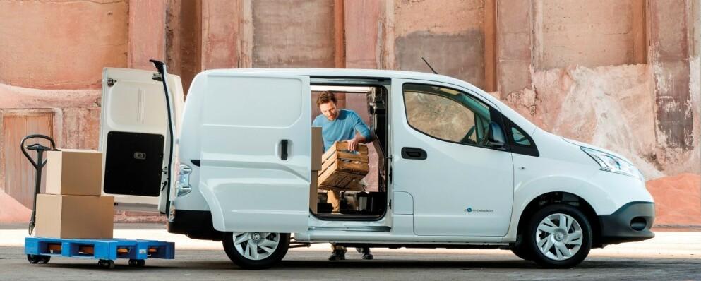 PRAKTISK OG RIMELIG: Salget av elektriske varebiler har løftet seg kraftig den siste tiden. Foto: Nissan