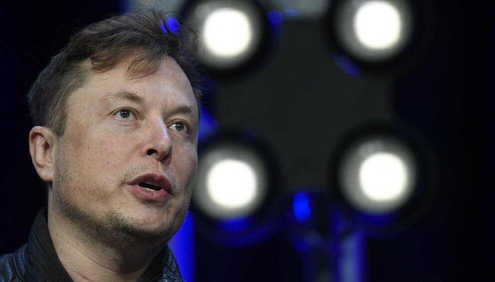 SIER NEI: Elon Musk og Tesla vil ikke lenger akseptere bilkjøp ved bruk av Bitcoin. Foto: Susan Walsh / AP