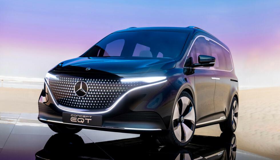 SNART KLAR: Bildet viser en konseptutgave av EQT som vil ligge nært opp til produksjonsmodellen, lover Mercedes-Benz. Foto: Mercedes-Benz