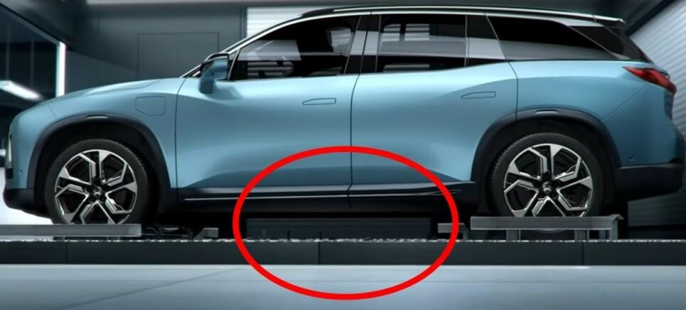 KAN BLI FLERE: Foreløpig er det kun Nio som tilbyr batteribytte som et alternativ til lading, men snart kan de få følge av en av de store bilprodusentene. Foto: Nio