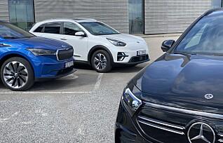 Skoda Enyaq møter Mercedes-Benz EQA og Kia e-Niro