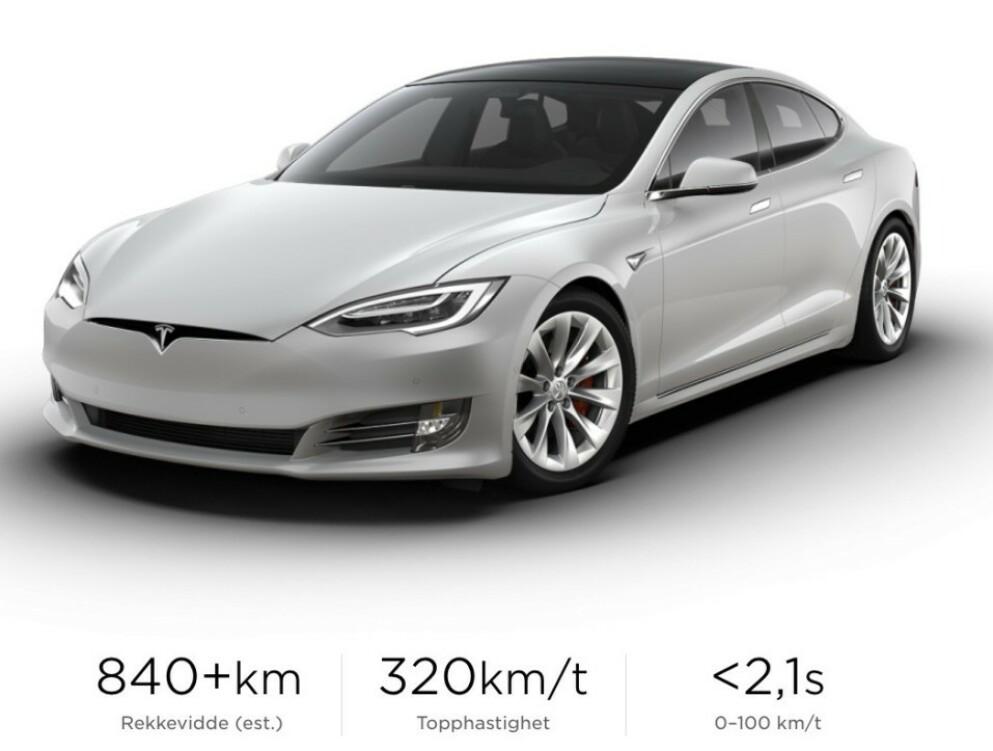 KANSELLERT: Tesla Model S Plaid+ ville ha blitt modellens nye rekkeviddekonge. Nå er den kansellert. Skjermdump: Tesla.com