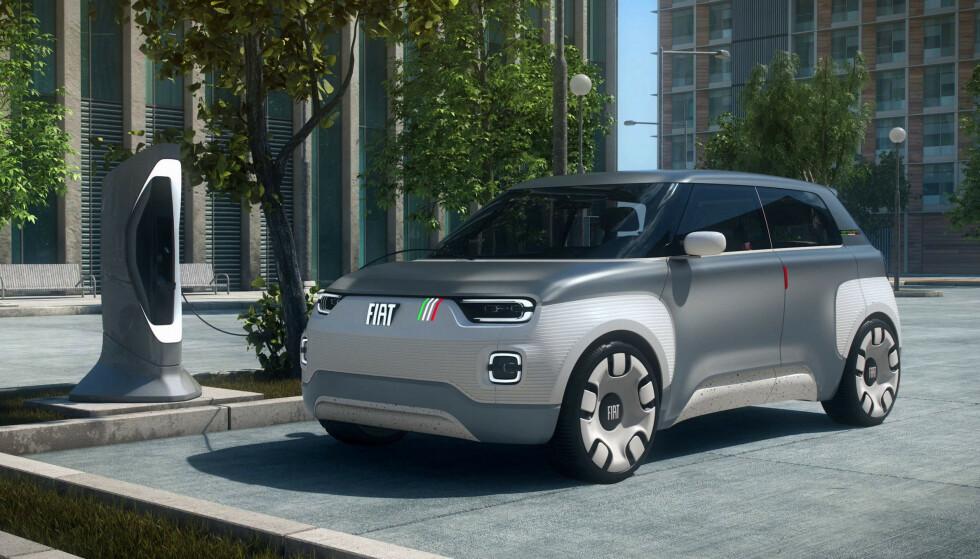 KULT KONSEPT: Fiat Centoventi er vist som konseptbil, men er tenkt på markedet. Foto: FCA