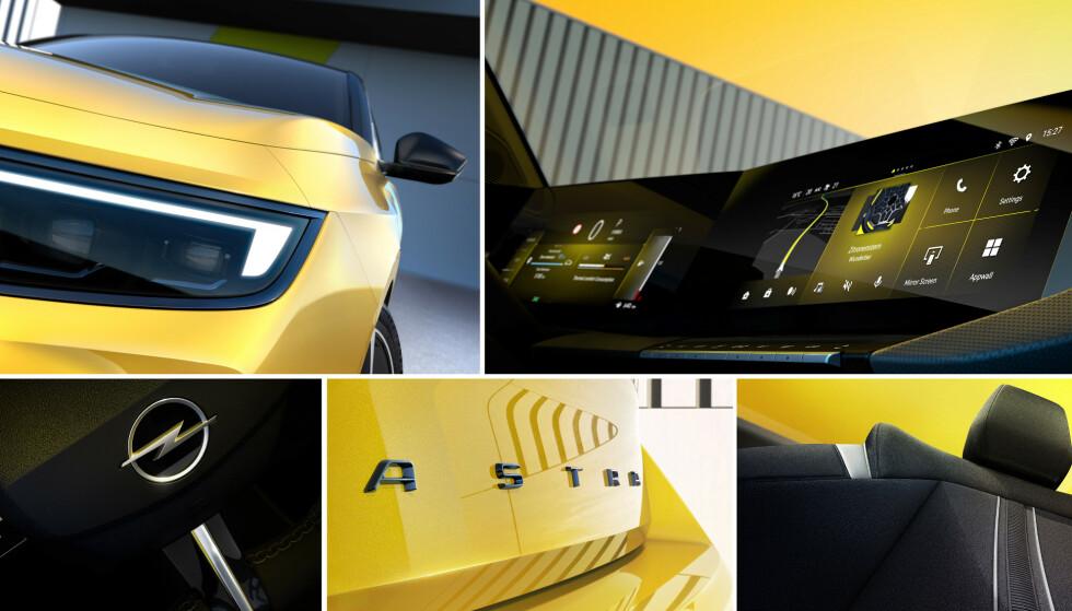 Opel Astra e: Kan dette være en sportslig utgave av Astra? Bilen kommer også i helelektrisk utgave. Foto: Opel