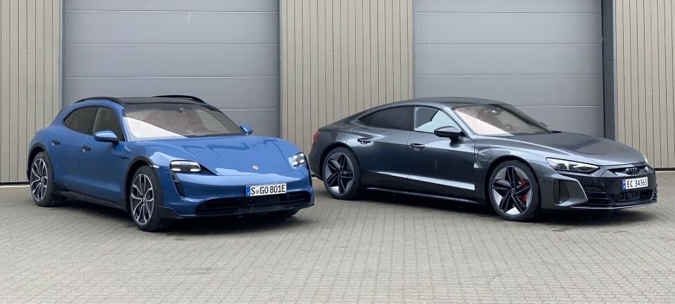 VALGETS KVAL: Porsche Taycan eller Audi RS e-tron GT?