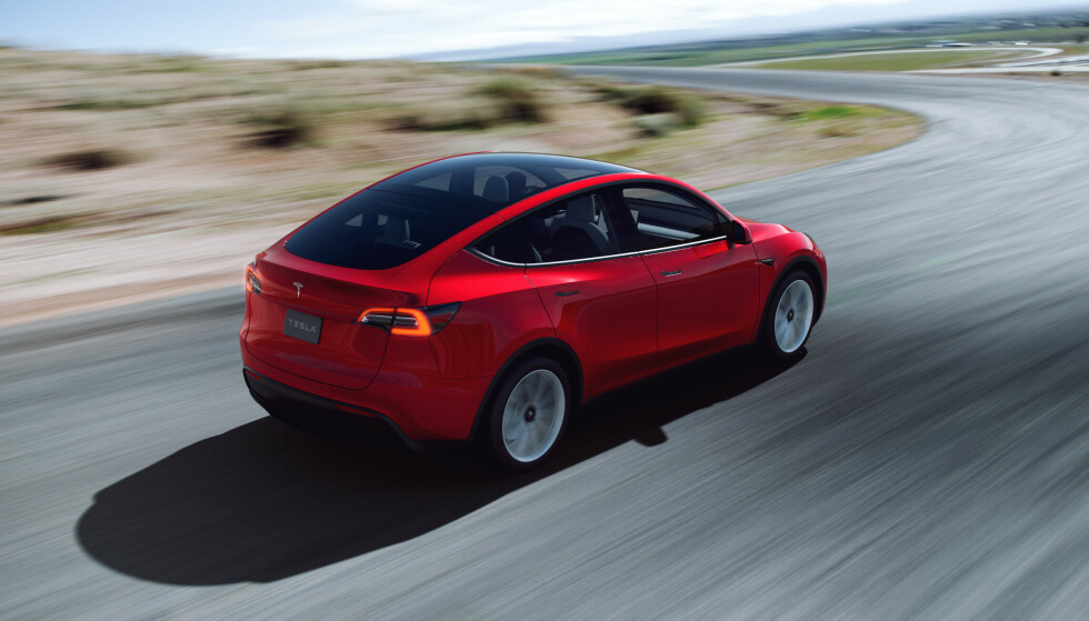 Kompakt-SUV: Tesla Model Y er på en måte en mer høyreist og oppblåst utgave av Model 3. FotoTesla