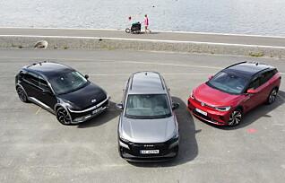 Ioniq 5 i test mot Audi Q4 e-tron og VW ID.4 GTX