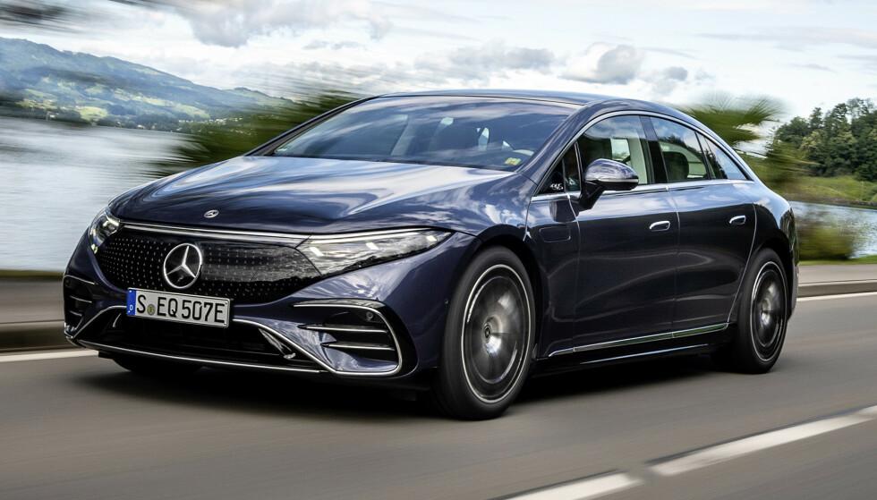 EFFEKTIV: Mercedes-Benz EQS har markedets laveste luftmotstand, og blir svært effektiv. Foto: Daimler