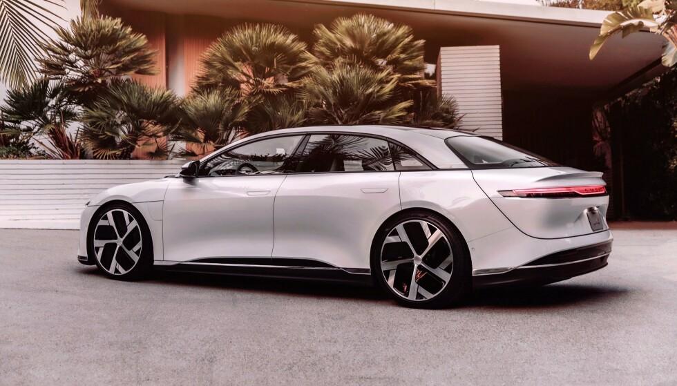 LUCID AIR: Den matcher Tesla på det meste, men vinner foreløpig på rekkevidde. Foto: Lucid Motors