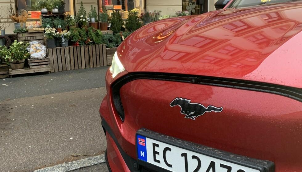 FÅR MYE AV ÆREN: Etterspørselen etter elektriske Mustang Mach-E har vært stor og har bidratt sterkt til det store overskuddet, ifølge Ford. Foto: Bjørn Eirik Loftås
