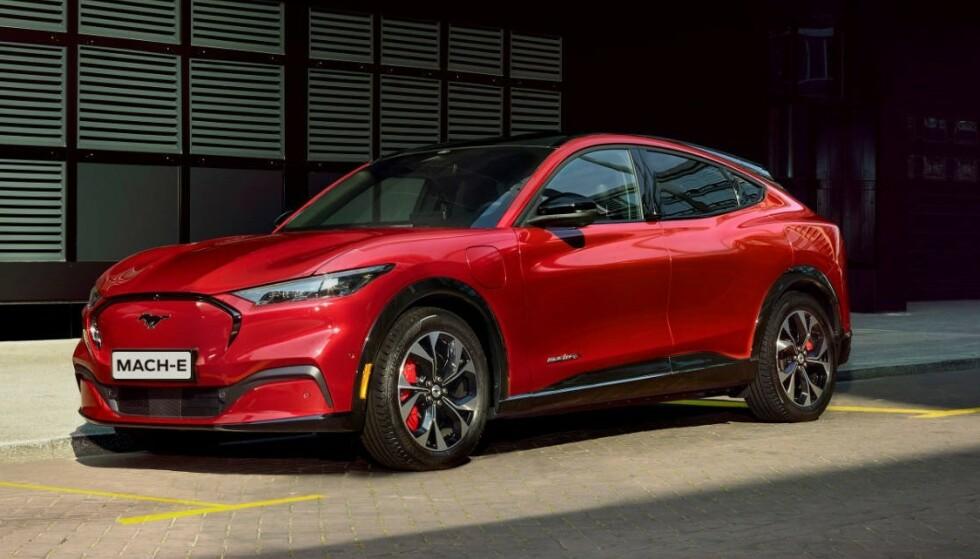 PÅ TOPP: For andre gang topper Mustang Mach-E registreringslistene. Foto: Ford
