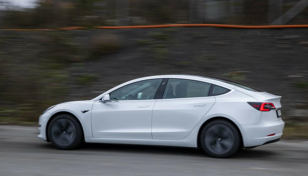 Oslo 20191030. Tesla modell 3 med bakhjulsdrift.Foto: Håkon Mosvold Larsen / NTB