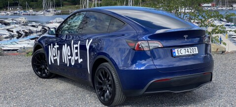 Tesla Model Y prøvekjørt