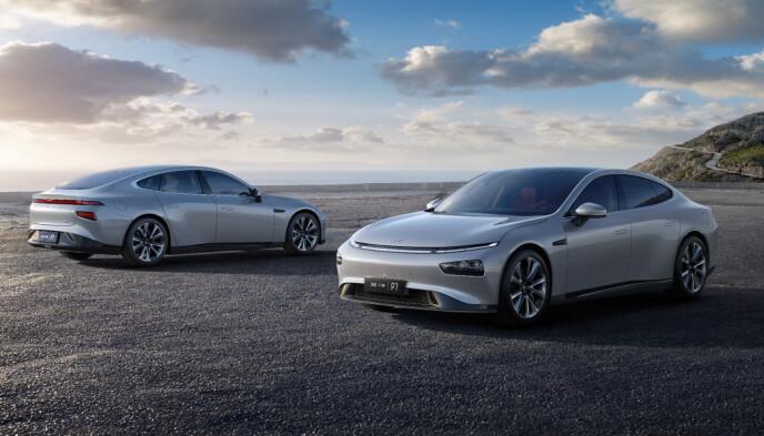 XPENG P7: Likhetstrekkene med Tesla Model 3/S er mange. Foto: Xpeng
