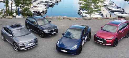 Elbil-kampen: Tesla Model Y mot tre arge konkurrenter