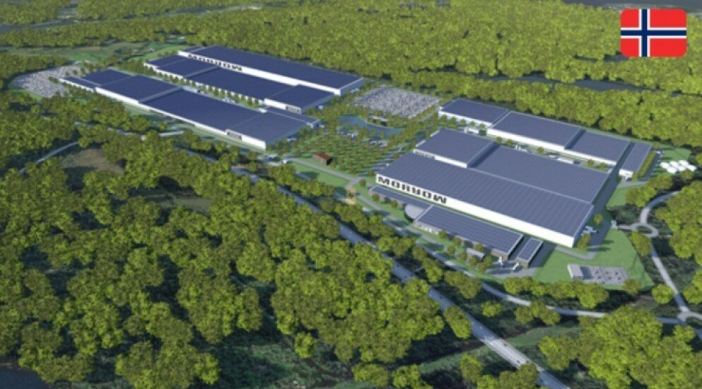 GIGA: Når fabrikken står ferdig, vil det jobbe et sted mellom 2000 og 2500 ansatte her. Illustrasjon: Morrow Batteries