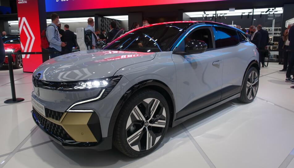 AVDUKET: Renault Megane E-Tech ble lansert på bilmessen i München 6. september. Foto: Fred Magne Skillebæk
