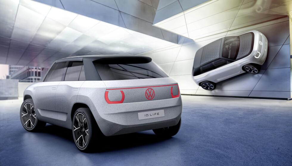 SMÅBIL: Volkswagen ID.Life (konseptbil). Illustrasjon: Volkswagen
