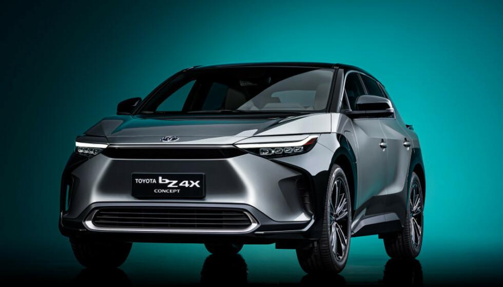 FØRST UT: bZ4X er ventet på veiene til neste år. Foto: Toyota