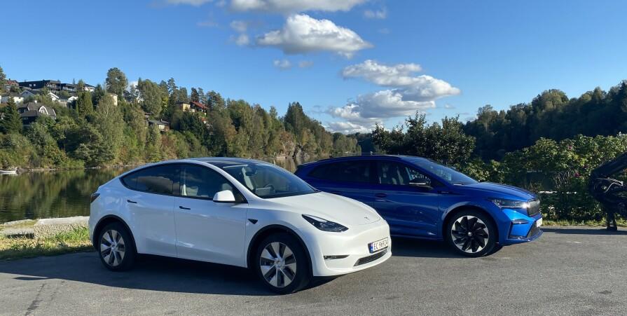 Tesla mot Skoda i ladetest: - Seier med bismak