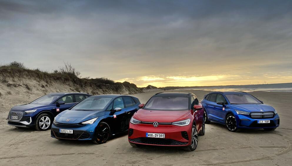 OPPDATERES: En rekke modeller på VW-konsernets MEB-plattform får nå økt ladefart. Foto: Fred Magne Skillebæk