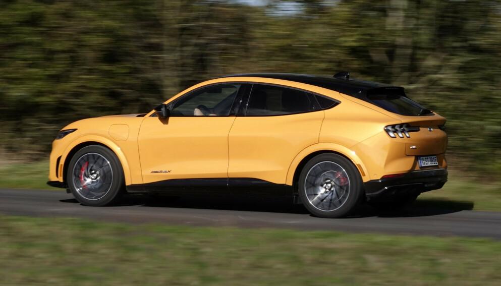 KJØREMASKIN: GT har krefter som bare kan komme fra en elektrisk Mustang. Foto: Fred Magne Skillebæk