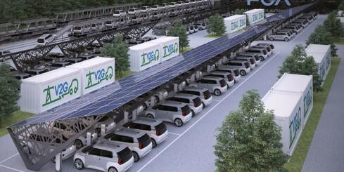 Image: Huset kan bruke strøm fra elbilen