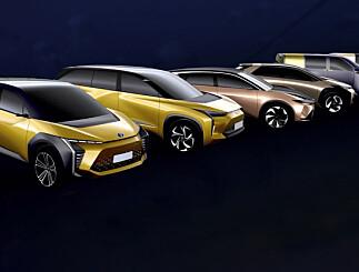 Image: Toyota lanserer seks nye elbiler