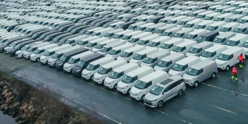 Image: Tusen kinesiske elbiler i Drammen