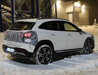Image: Mercedes EQA 250 på norsk jord