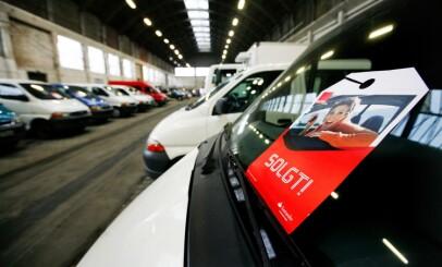 Image: Bugner av brukte elbiler på markedet