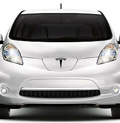 Image: Tesla snart like vanlig syn som Nissan Leaf