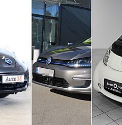 Image: Fem brukte elbilkupp til under 100.000 kroner
