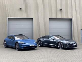 Image: VALGETS KVAL: Porsche Taycan eller Audi RS e-tron GT?