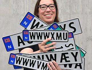 Image: Endrer på personlige bilskilt