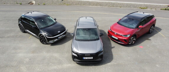 Image: Ioniq 5 i test mot Audi Q4 e-tron og VW ID.4 GTX