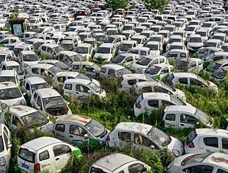 Image: Nei, dette bildet viser ikke en fransk elbilkirkegård